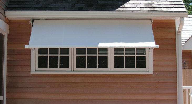 Eclipse Drop Arm Retractable Window And Porch Awnings