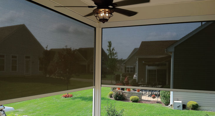 Exterior: Eclipse E-Zip Side Retention Solar & Insect Screen